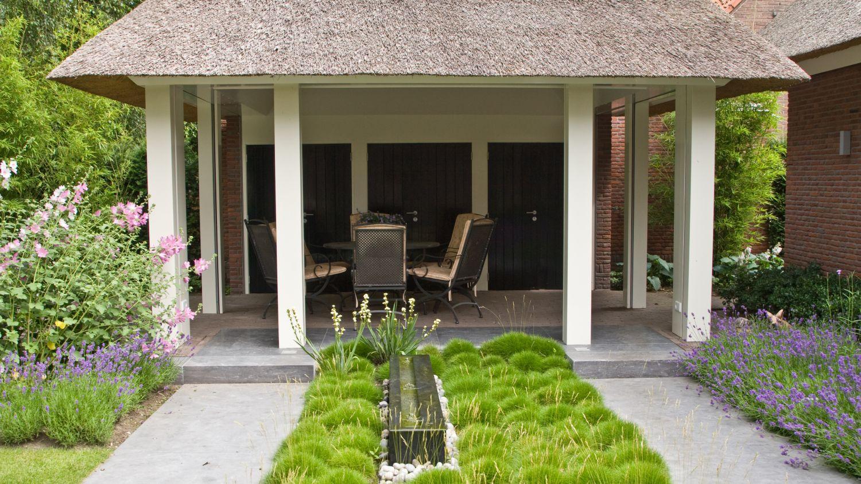 tuinhuis paviljoen overdekt terras