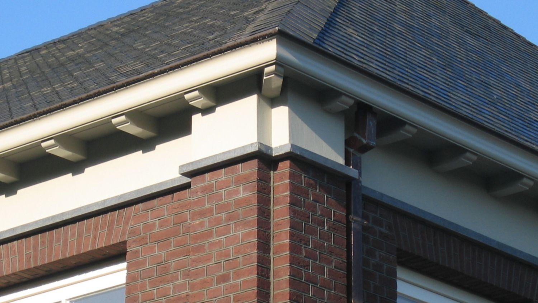 pilasters metselwerk gesneden voeg